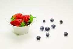 Fragola e mirtillo di frutti Fotografia Stock Libera da Diritti