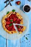 Fragola Gallette con aceto balsamico & pepe nero Immagine Stock Libera da Diritti