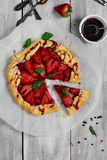 Fragola Gallette con aceto balsamico & pepe nero Immagine Stock