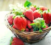 Fragola organica, un forte antiossidante nella vostra dieta sana fotografia stock