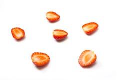 Fragola rossa della bacca isolata su fondo bianco Fotografie Stock
