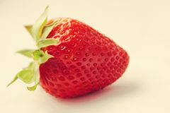 Fragola rossa fresca organica Fotografie Stock Libere da Diritti