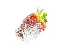 Fragola in zucchero Fotografie Stock Libere da Diritti