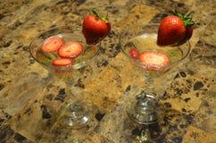 Fragole e champagne immagini stock libere da diritti