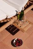 Fragole e vino Fotografia Stock Libera da Diritti