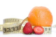 Fragole ed arancio Fotografia Stock Libera da Diritti