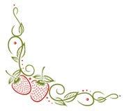 Fragole, foglie Immagini Stock Libere da Diritti