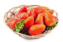 Fragole isolate sulle bacche bianche di frutti dell'alimento del fondo Immagine Stock Libera da Diritti