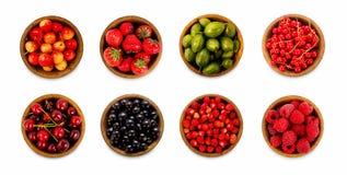 Fragole, ribes, ciliegia, lamponi, uva spina Fotografie Stock Libere da Diritti