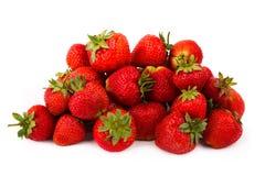 Fragole rosse fresche su fondo bianco Fotografia Stock Libera da Diritti