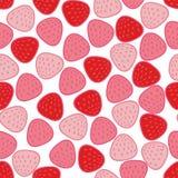 Fragole semplici dell'estratto adorabile di rosa che ripetono modello fotografia stock