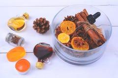 Fragrância da aromaterapia da laranja Saúde e beleza, ainda conceito da vida Imagem de Stock Royalty Free