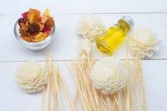 Fragrância da aromaterapia da laranja Saúde e beleza, ainda conceito da vida Imagens de Stock Royalty Free