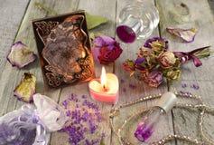 Fragrâncias lilás com imagem Imagens de Stock Royalty Free
