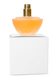 Fragrance. On the box isolated on white Royalty Free Stock Image