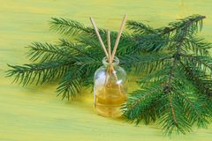 Fragrance coniferous sticks or Scent diffuser Stock Images