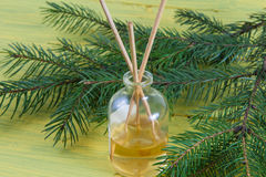 Fragrance coniferous sticks or Scent diffuser Royalty Free Stock Photo