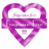 Fragrance Free Heart Rubber Stamp Royalty Free Stock Images