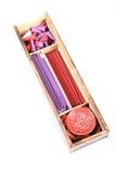 Fragrance item wooden box Stock Photo