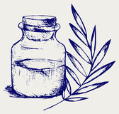 Fragrance oil. Doodle style. Vector Stock Photography