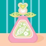 Fragrance perfume bottle spring heart flower Royalty Free Stock Photography