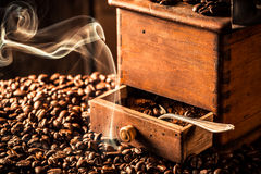 Fragrance of roasted coffee beans Stock Photography