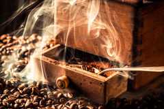 Fragrance of roasted coffee grains Royalty Free Stock Images