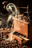 Fragrance of roasted coffee seeds Royalty Free Stock Images