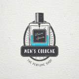 The Fragrance Shop. Exclusive boutique with aromatic oils. Detailed elements. Old retro vintage grunge. Scratched Royalty Free Stock Photos