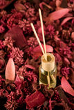 Fragrance Sticks with Potpourri Royalty Free Stock Photography