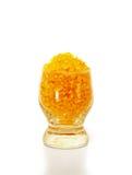 Fragranced sea salt in a glass. Stock Image
