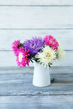 Fragrant asters in a vase stock photo