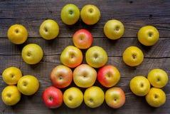 Fragrant autumn apples Stock Photos