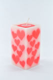 Fragrant candle for valentine Stock Images