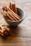 Fragrant cinnamon sticks in bowl Royalty Free Stock Photo