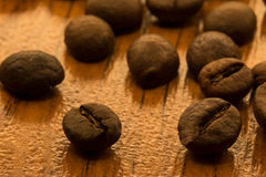 Fragrant coffee beans Stock Photos