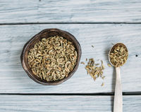 Fragrant fennel seeds. Fennel seeds, fragrant fennel, fragrant spices Royalty Free Stock Photos