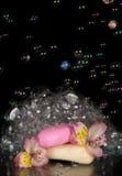 Fragrant foam, flower alstroemeria and piece of Royalty Free Stock Photos