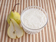 Fragrant fresh pear smoothy Stock Image
