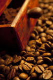 Fragrant fried coffee Stock Photography
