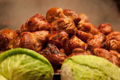 Fragrant fried meat Royalty Free Stock Images