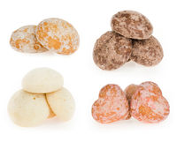 Fragrant gingerbreads of different flavours. Isolated object suitable for advertisement/websites royalty free stock photo