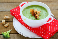 Fragrant green soup cream soup Royalty Free Stock Photography