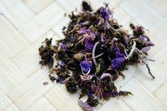 Fragrant herbal tea on a wooden board. Epilobium. royalty free stock image