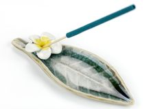 Fragrant incense. Stick of fragrant incense on the white Stock Images