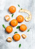 Fragrant juicy mandarins stock images
