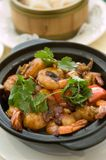 Fragrant king prawn hot pot Stock Image