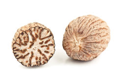 Fragrant nutmeg Stock Photos