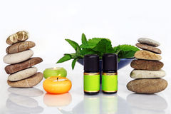 Fragrant oils. Feel comfortable with fragrant oils and natural cosmetics Stock Image