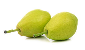 Fragrant pear on white background Royalty Free Stock Images